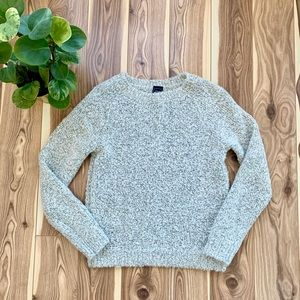 GAP | wool blend sweater knit grey and white small
